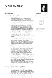 Mccombs Resume Template President U0026 Coo Resume Samples Visualcv Resume Samples Database
