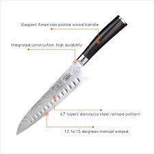 American Kitchen Knives Shan Zu Japanese Damascus Knife 8 U0027 U0027 Vg10 Steel Blade Professional