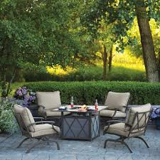 Firepit Set Living Accents Odyssey Firepit Set 5 Pc Brown Sus59xf X02 All