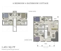 floor plans for cottages 4 bedroom cottage capstone cottages of san marcos
