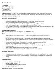 Culinary Resume Examples by Cooking Instructor Cover Letter