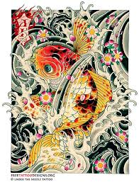 free koi fish tattoo design photos pictures and sketches