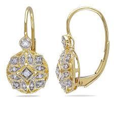 14k gold earrings 14k gold 0 13ctw white diamond drop earrings 7641466 hsn