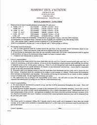 apartment lease agreement free printable home design