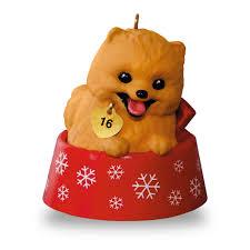 puppy love pomeranian ornament keepsake ornaments hallmark