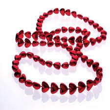 mardi gras beaded necklaces mardi gras metallic heart 10mm wholesale novelty
