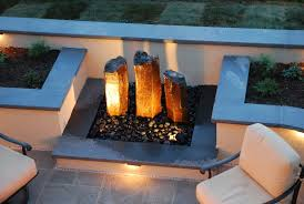 Outdoor Water Features With Lights by Pondless Water Feature Landscape Traditional With Outdoor Wall
