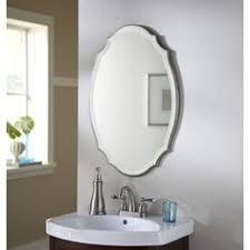 Beveled Mirror Bathroom by Moen Dn6892bn Sage 26 In H X 22 79 In W Oval Tilting Frameless