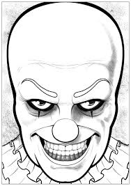halloween pennywise it halloween coloring pages for adults