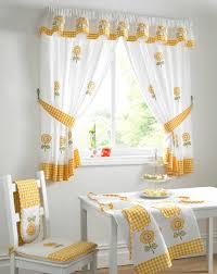 curtains kitchen window ideas white tile wall backsplah brown