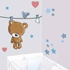 stickers nounours chambre bébé juju compagnie sticker ourson teddy brun stickers bébé deco