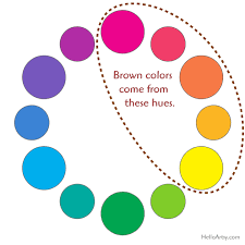 how to make brown helloartsy