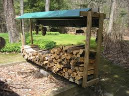 build a simple diy outdoor firewood storage shed using reclaimed
