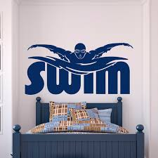 online shop gym sports wall decal stickers swim swimming pool
