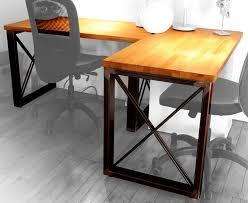 industrial steel frame u0026 butcherblock wood desk album on imgur