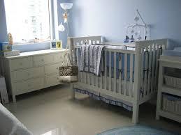 Boy Nursery Chandelier Baby Nursery Decor Wooden Floor Blue White Furniture Natural