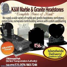 affordable headstones k m marble and granite headstones jamaican classifieds