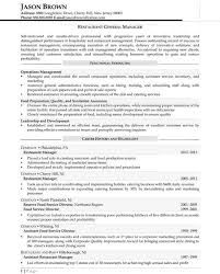Food Service Job Resume by Risk Management Resume Sample