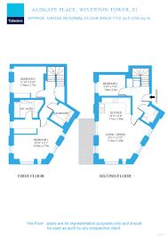Up Down Duplex Floor Plans Aldgate Place Leman Street London E1 3 Bedroom Duplex For Sale