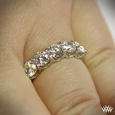 Wedding Ring On Right Hand by Skye Five Stone U Prong