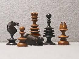 turned english chess set 18th century luke honey decorative