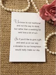 wedding gift amount wedding ideas wedding gift money poem small cards asking for