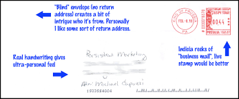 Where Does Stamp Go On Envelope Direct Mail Advertisement Strategies Direct Mail Examples
