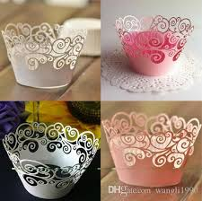 vine filigree cupcake wrappers lasers liners cut clouds design