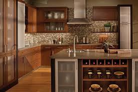 Wonderful Kitchen Backsplash Cherry Cabinets Black Counter - Backsplash for cherry cabinets