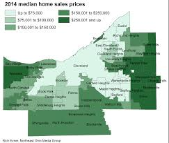 Map Of Northeast Ohio by Home Prices Up For Most Of Cuyahoga County In 2014 City By City