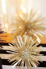 New Years Eve Table Decorations Ideas by A New Year U0027s Eve Gold Rush Party Styrofoam Ball Spray Painting