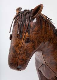 Leather Animal Ottoman by Brown Leather Horse Ottoman For Sale At 1stdibs