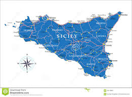 Map Of Sicily Italy by Italy And Sicily Outline Map Stock Image Image 2026641