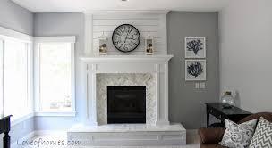benjamin moore glass slipper fireplace reveal walls pelican gray benjamin moore same as