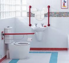 bathroom cute blue wall small kids bathroom decor with nice
