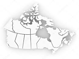 Canada On Map by Three Dimensional Map Of Canada 3d U2014 Stock Photo Maxxyustas