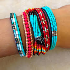new turquoise beaded multi strand stretch bracelet chan luu