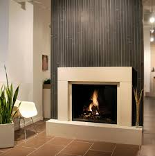 interior modern white fireplace surrounds with white chair and