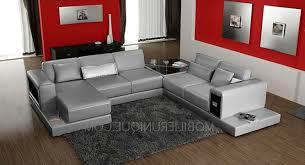 canap cuir gris canapé d angle en cuir à prix discount 2