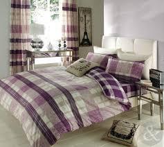 striped check duvet cover reversible bedding cotton blend modern