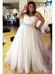 large size wedding dresses a line strapless white plus size wedding dress with sash