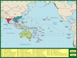 pacific region map coverage region map australasian pollen and spore atlas