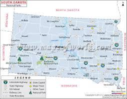 south dakota road map dakota national parks map