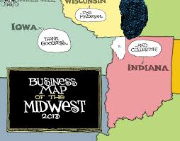 Map Of The Midwest Midwest Business Map Taking A Stantis