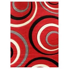 Area Rugs With Circles Abstract Contemporary 5x8 Red Black White Gray Area Rug Modern