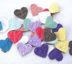 seed paper favors 50 plantable seed paper hearts eco friendly wedding favors