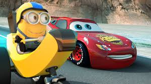despicable me 3 hd 2017 wallpapers disney pixar cars 3 banana cycle minion races lightning mcqueen