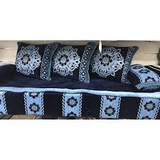 couvre canapé marocain kits tissu pas chère et complets pour salon marocain 7 pièces sur lsm