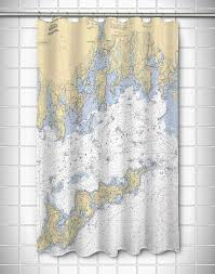 Nautical Bathroom Curtains 44 Best Nautical Chart Shower Curtains Map Shower Curtain
