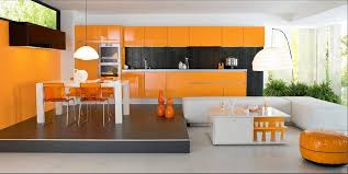 exemple de cuisine moderne exemple cuisine en l cuisine moderne couleur orange lune d eau par